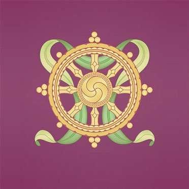 about dharma - image of dharma wheel