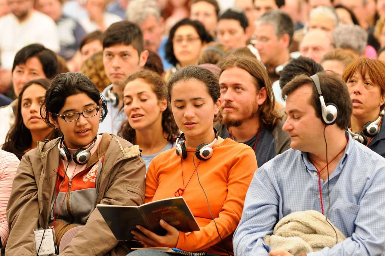 Festival attendees - four noble truths